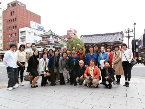 浅草寺前記念撮影