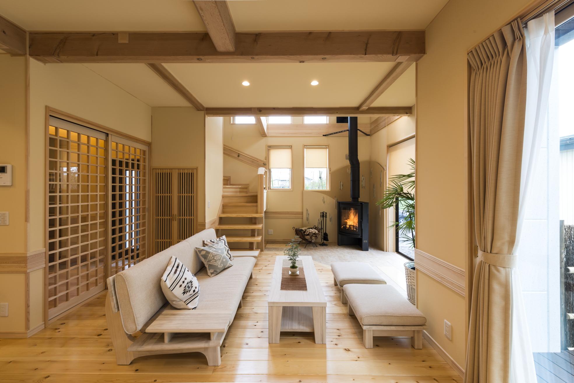 天然無垢材をふんだんに使った夢ハウスの住宅